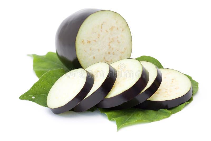 Aubergine. Fresh aubergine isolated on white stock images