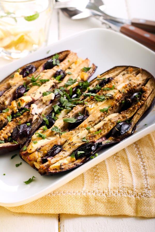 aubergine stock foto