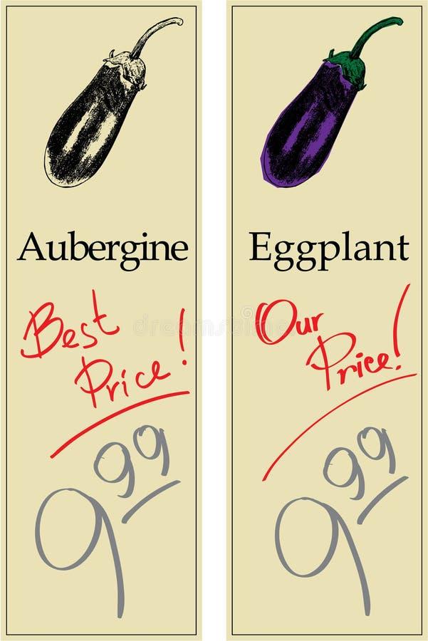 aubergine illustration stock
