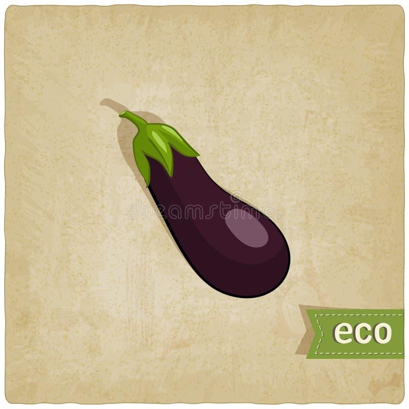 Aubergine eco Hintergrund stock abbildung