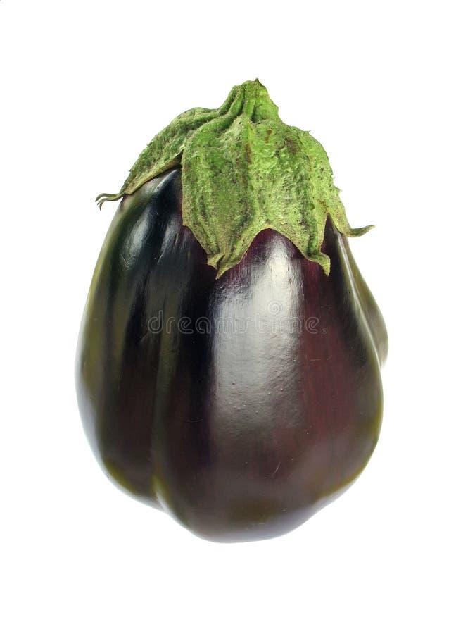 Aubergine (eggplant) isolated on white royalty free stock photos