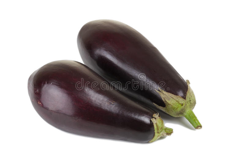 Aubergine. Eggplant or Aubergine Vegetable Isolated on a White Background stock photo