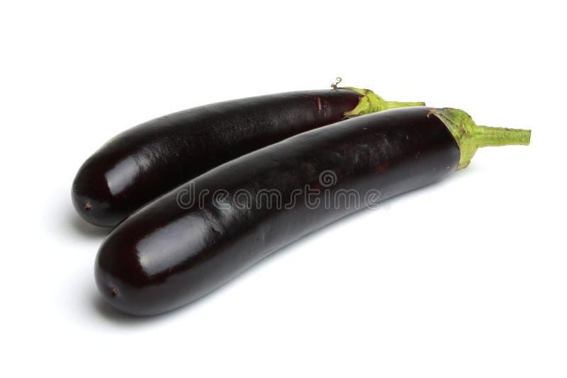 Aubergine. Fresh aubergine Isolated on white stock image