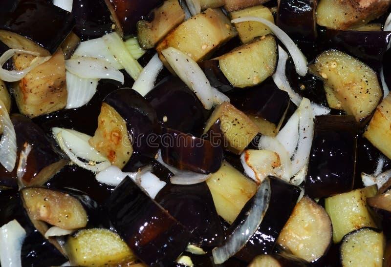 Aubergine frite photos stock