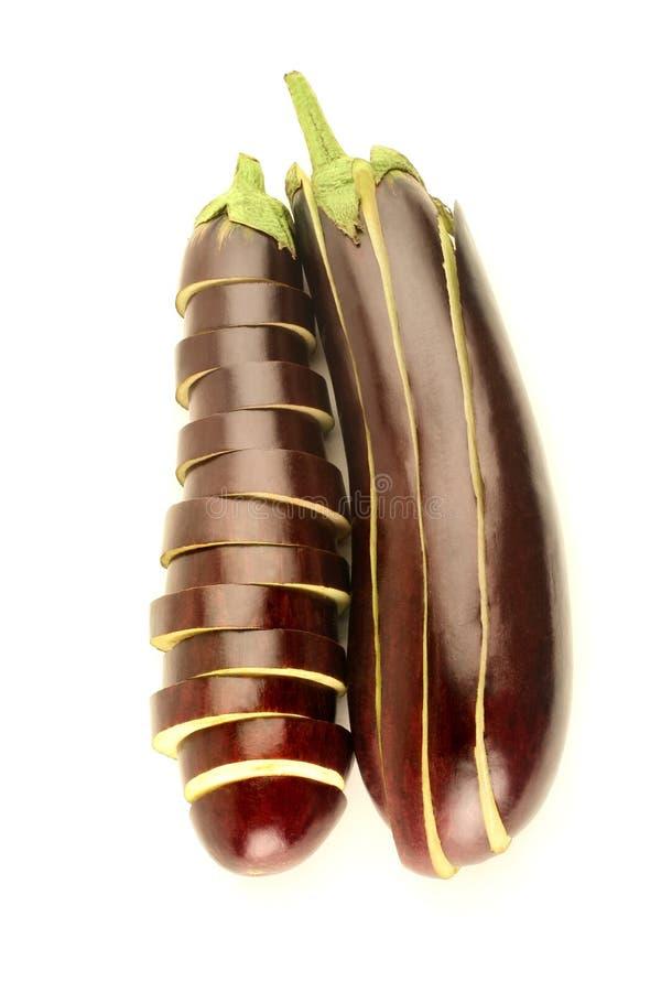 Aubergine op witte achtergrond royalty-vrije stock afbeelding