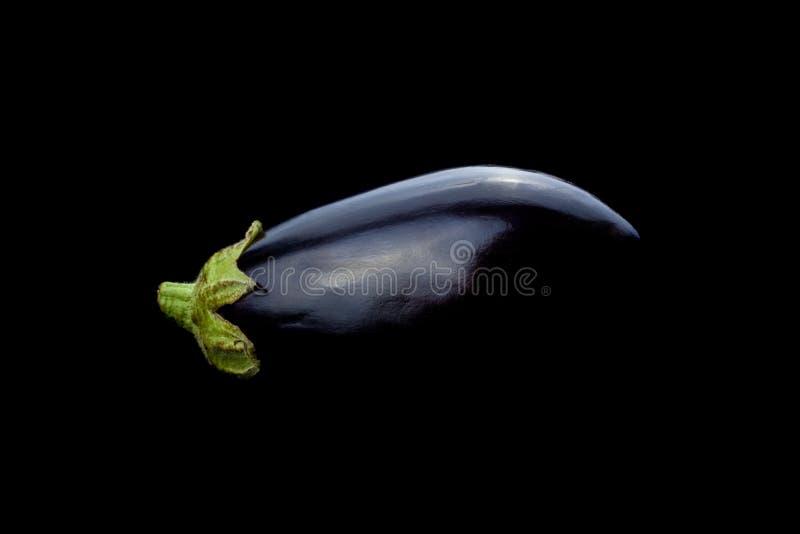 Aubergine op zwarte achtergrond royalty-vrije stock afbeeldingen