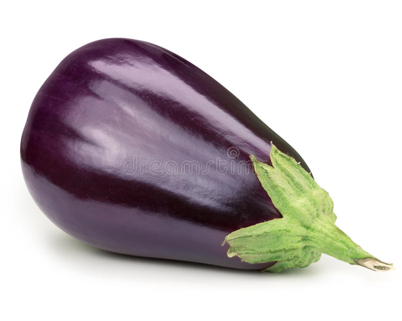 Aubergine. On white background Clipping Path stock photos