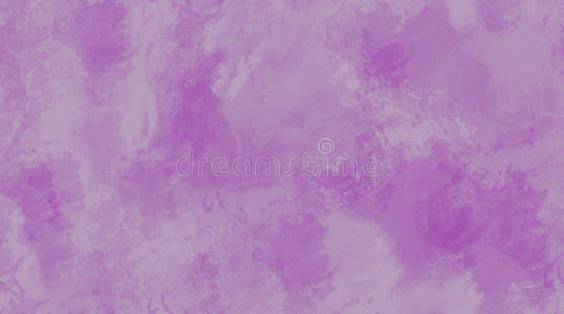 Auberginen-Aquarell-Hintergrund-nahtlose Fliesen-Beschaffenheit stock abbildung