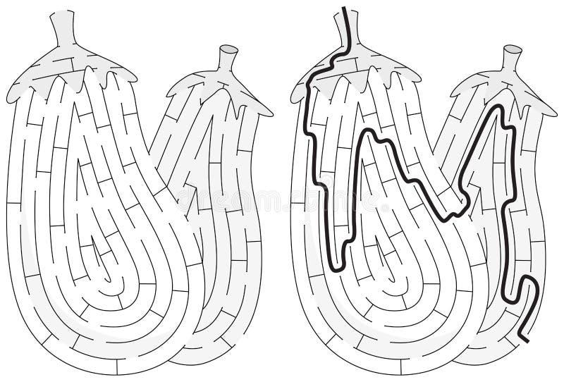 Auberginenlabyrinth vektor abbildung