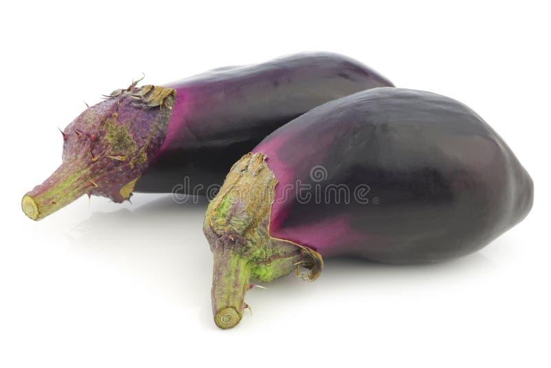 aubergines свежие стоковая фотография