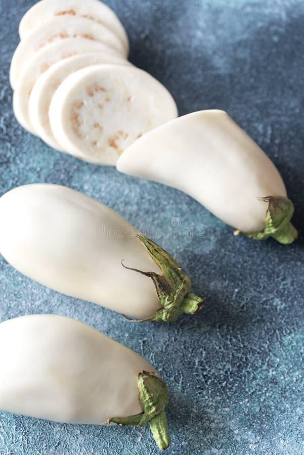 aubergines biały fotografia royalty free