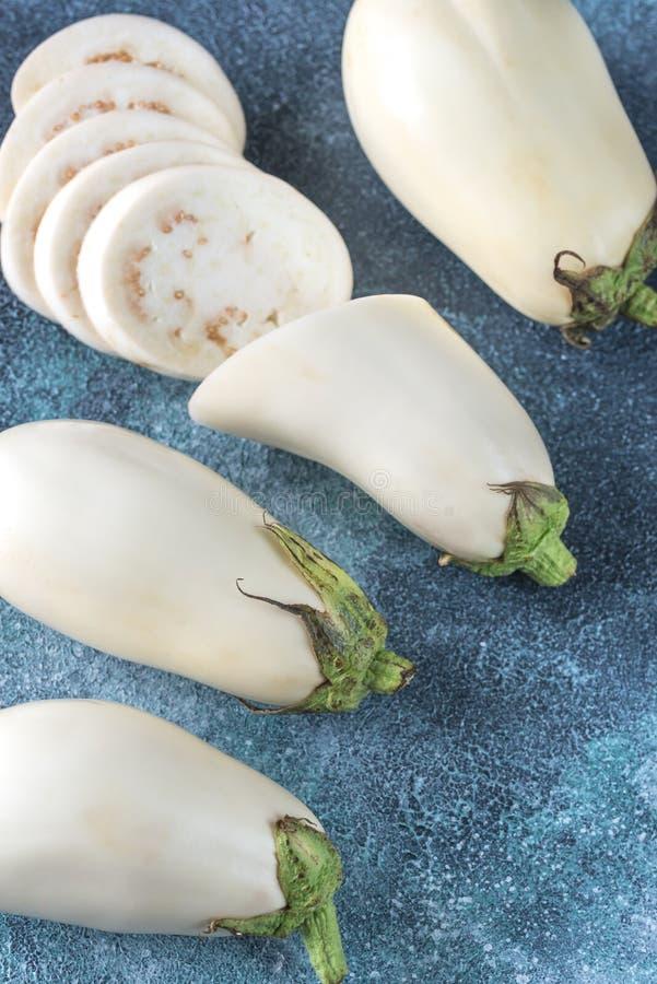 aubergines biały obraz stock