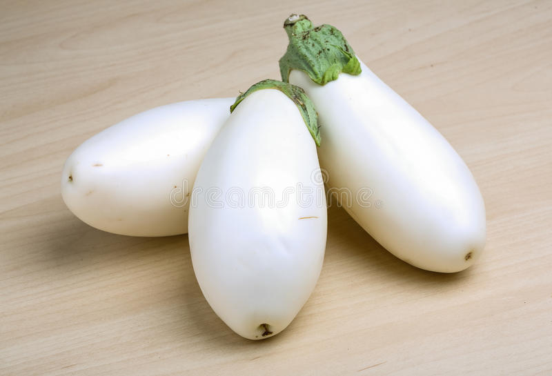 Aubergines blanches image stock