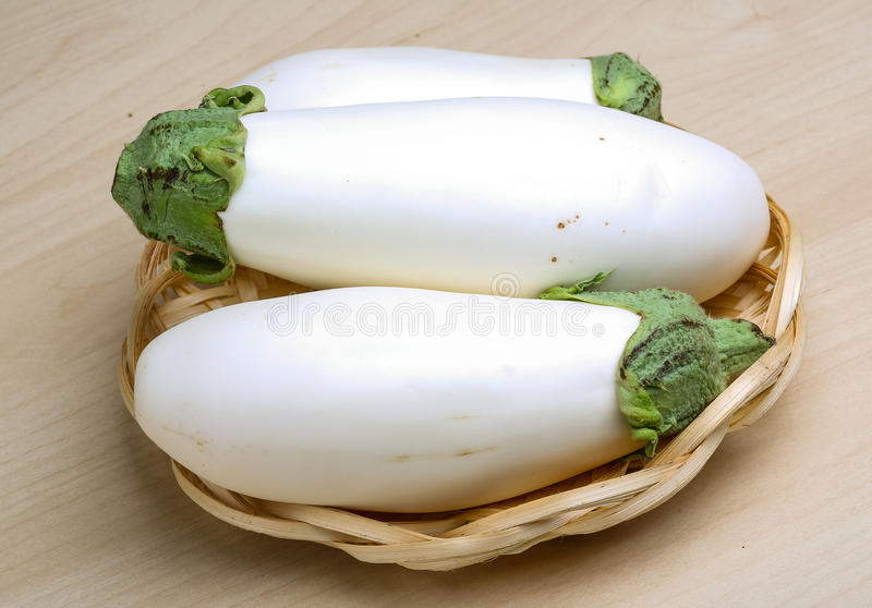 Aubergines blanches photo stock