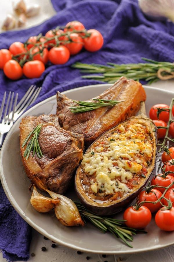 Aubergines cuites au four photographie stock libre de droits
