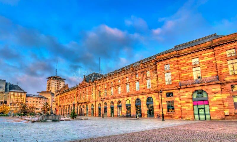 Aubette, un bâtiment historique sur l'endroit Kleber à Strasbourg, France photos libres de droits