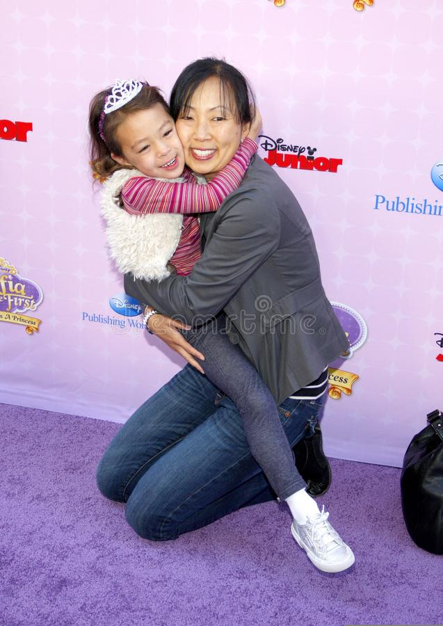 Aubrey Anderson-Emmons. At the Los Angeles premiere of `Sofia the First: Once Upon a Princess` held at the Disney Studios in Los Angeles, United States on stock photography