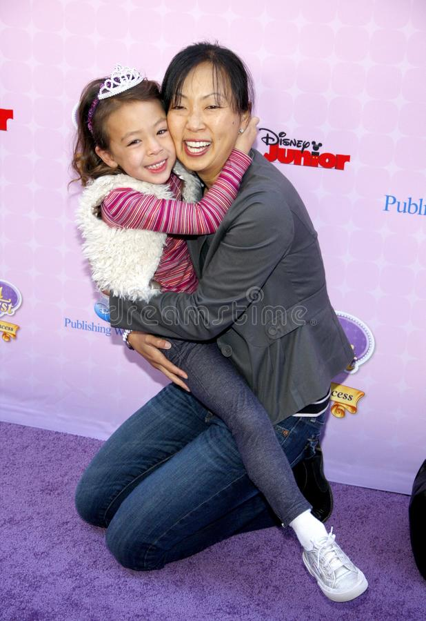 Aubrey Anderson-Emmons. At the Los Angeles premiere of `Sofia the First: Once Upon a Princess` held at the Disney Studios in Los Angeles, United States on royalty free stock photo