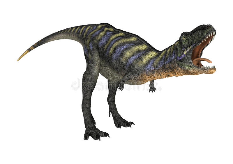 Aucasaurus динозавра перевода 3D на белизне иллюстрация вектора