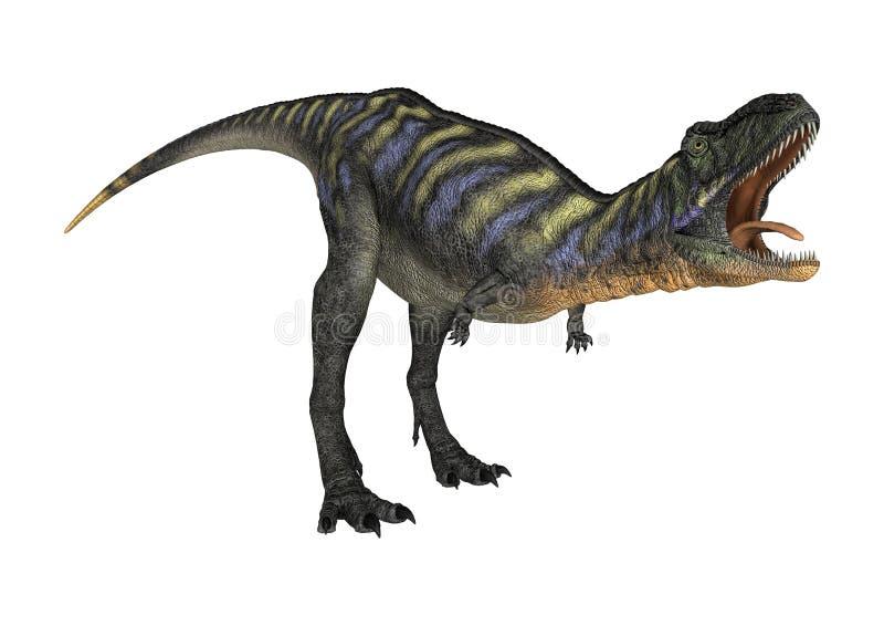 Aucasaurus del dinosaurio de la representación 3D en blanco ilustración del vector