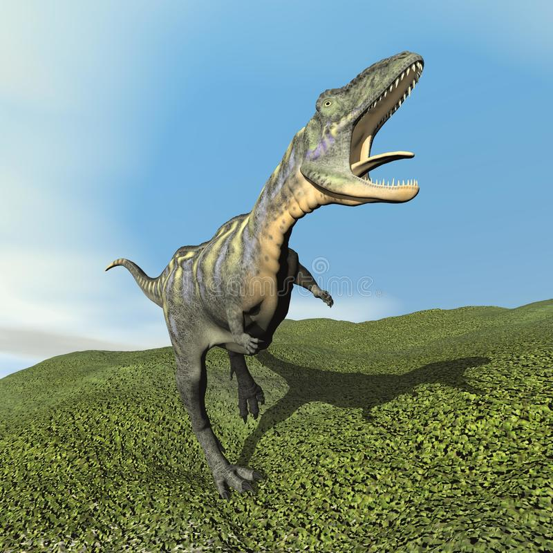 Aucasaurus die dinoasaur 3D brullen - geef terug vector illustratie