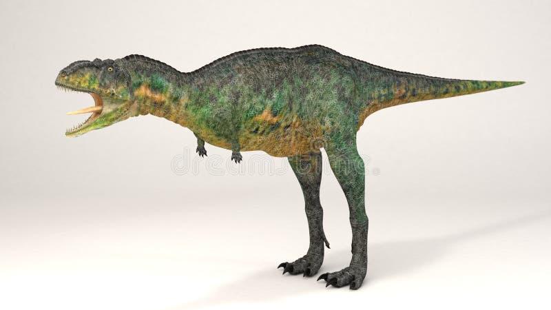 Aucasaurus-dinosaurus vector illustratie