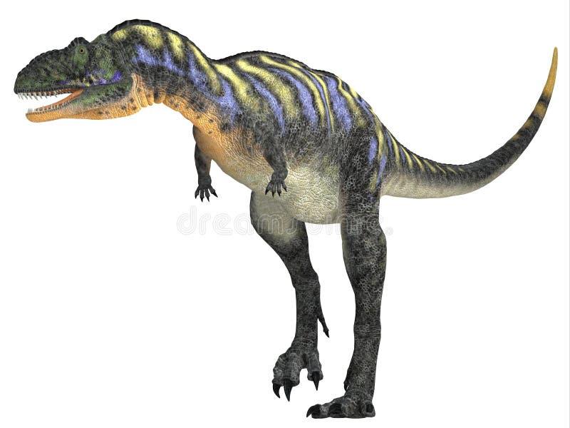 Aucasaurus sobre o branco ilustração royalty free