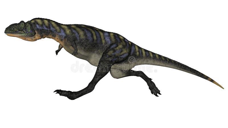 Aucasaurusdinosaurus 3D lopen - geef terug royalty-vrije illustratie