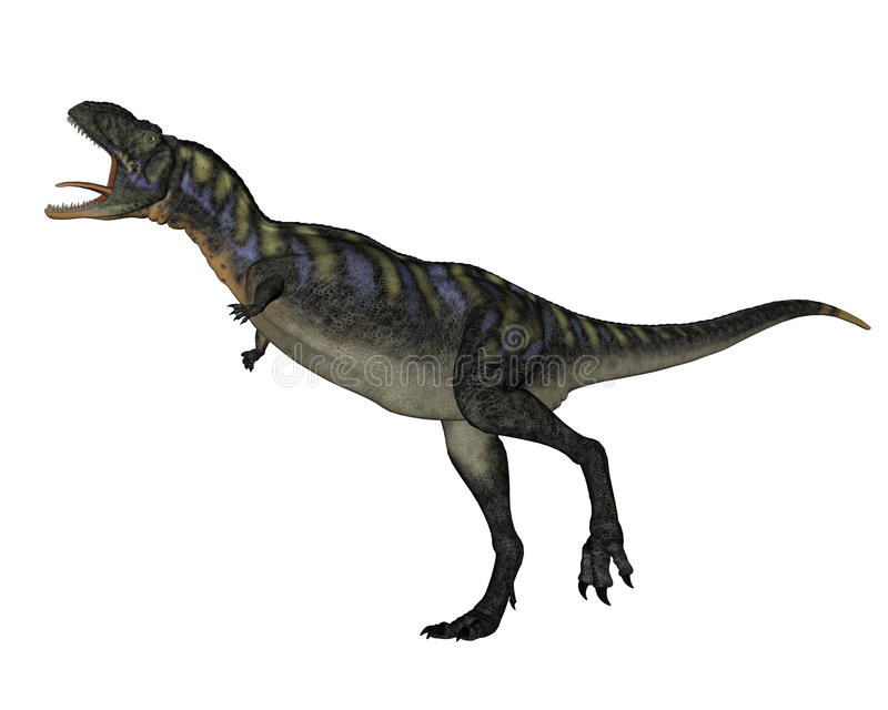 Aucasaurusdinosaurus lopen die 3D brullen - geef terug royalty-vrije illustratie