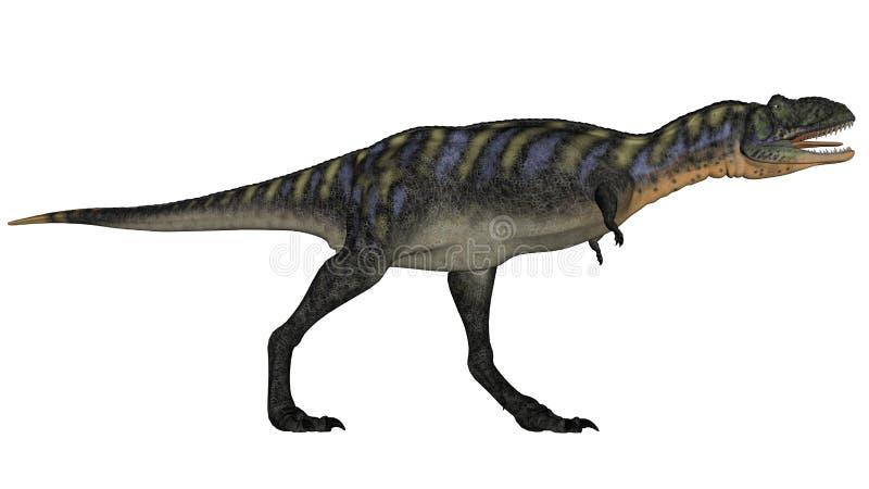 Aucasaurusdinosaurus lopen die 3D brullen - geef terug vector illustratie