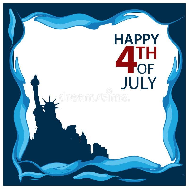 Auch im corel abgehobenen Betrag amerikanischer Unabhängigkeitstag des Hintergrundes vom 4. Juli Glücklich Juli 4 Designe für Pos vektor abbildung