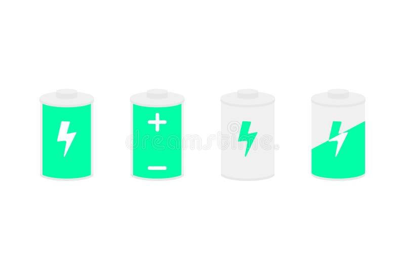 Auch im corel abgehobenen Betrag Batterieikonen eingestellt lizenzfreie abbildung