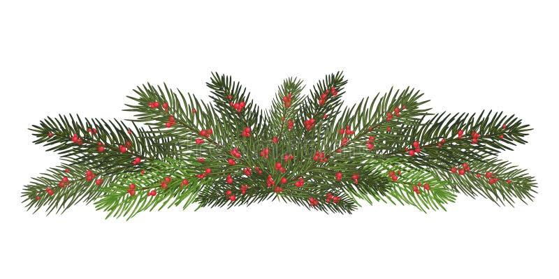 Auch im corel abgehobenen Betrag ENV 10 Girlande von Niederlassungen eines Weihnachten t vektor abbildung