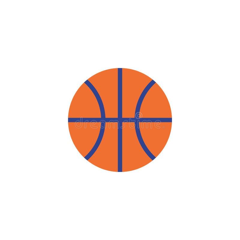 Auch im corel abgehobenen Betrag Flache Basketballikone lizenzfreie abbildung