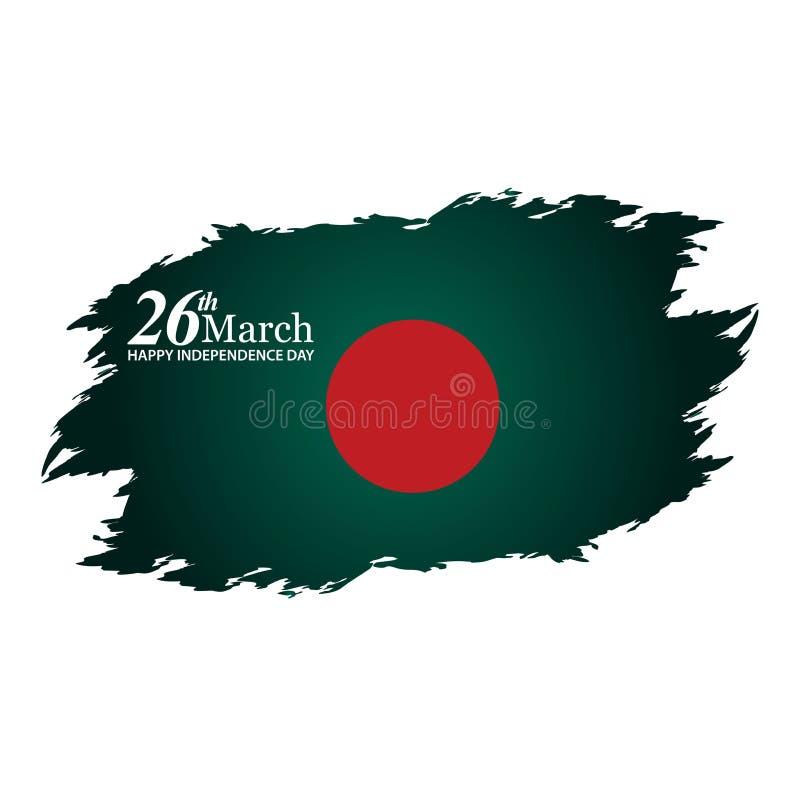 Auch im corel abgehobenen Betrag Hintergrund Bangladesch-Unabhängigkeitstag Designe für Poster, Hintergründe, Karten, Fahnen, Auf stock abbildung