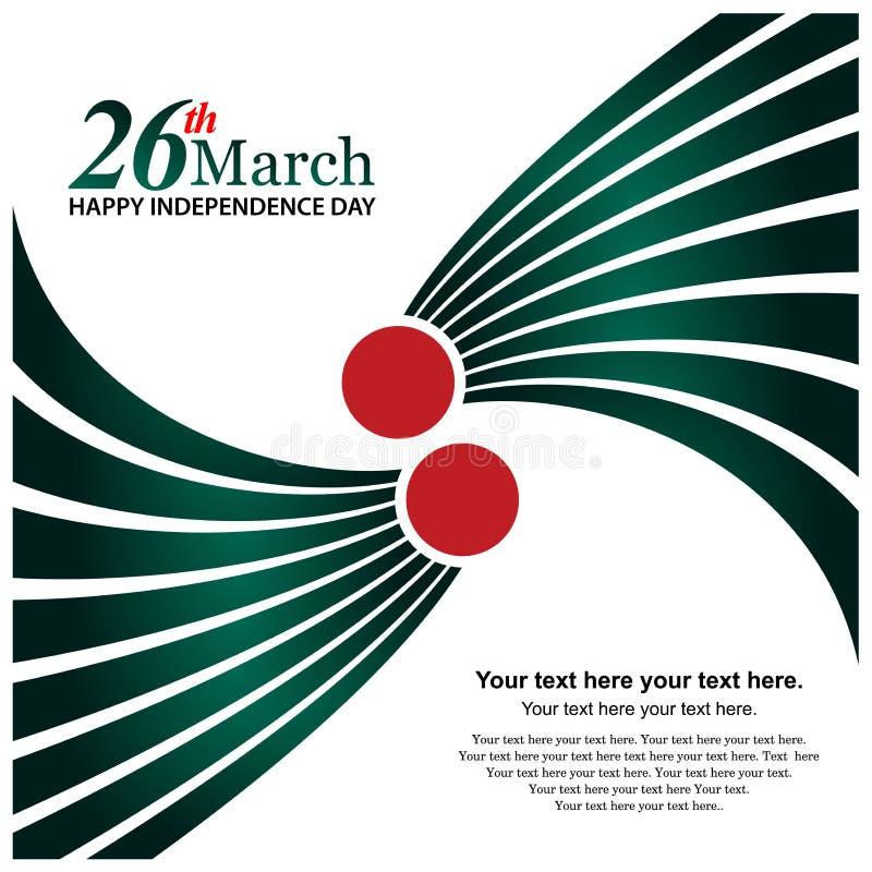 Auch im corel abgehobenen Betrag Hintergrund Bangladesch-Unabhängigkeitstag Designe für Poster, Hintergründe, Karten, Fahnen, Auf vektor abbildung