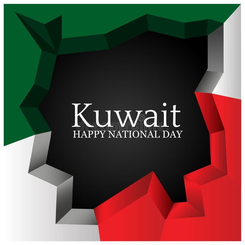 Auch im corel abgehobenen Betrag Hintergrund Kuwait-Nationalfeiertag Designe für Poster, Hintergründe, Karten, Fahnen, Aufkleber, lizenzfreie abbildung