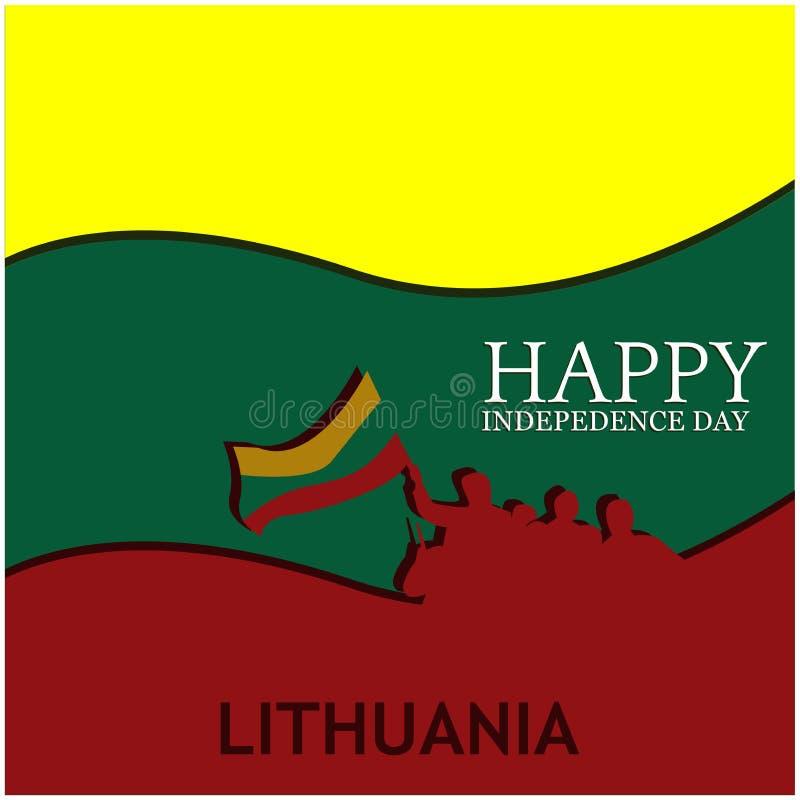 Auch im corel abgehobenen Betrag Hintergrund Litauen-Nationalfeiertag Designe für Poster, Hintergründe, Karten, Fahnen, Aufkleber vektor abbildung