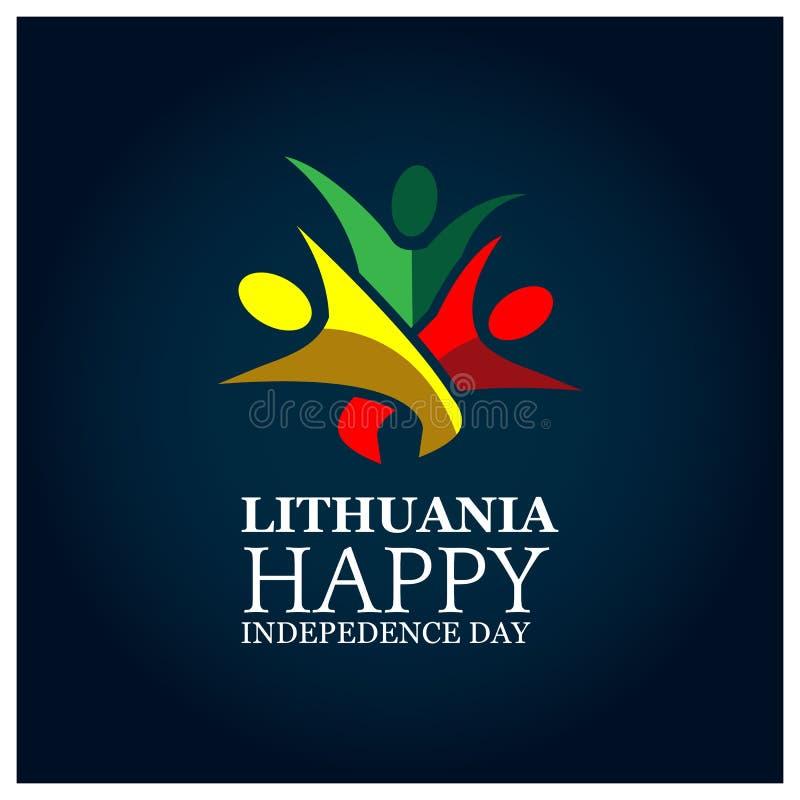 Auch im corel abgehobenen Betrag Hintergrund Litauen-Nationalfeiertag Designe für Poster, Hintergründe, Karten, Fahnen, Aufkleber lizenzfreie abbildung