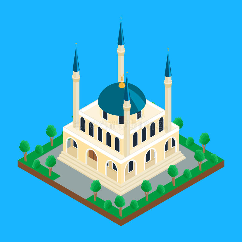 Auch im corel abgehobenen Betrag Islamische Moschee vektor abbildung