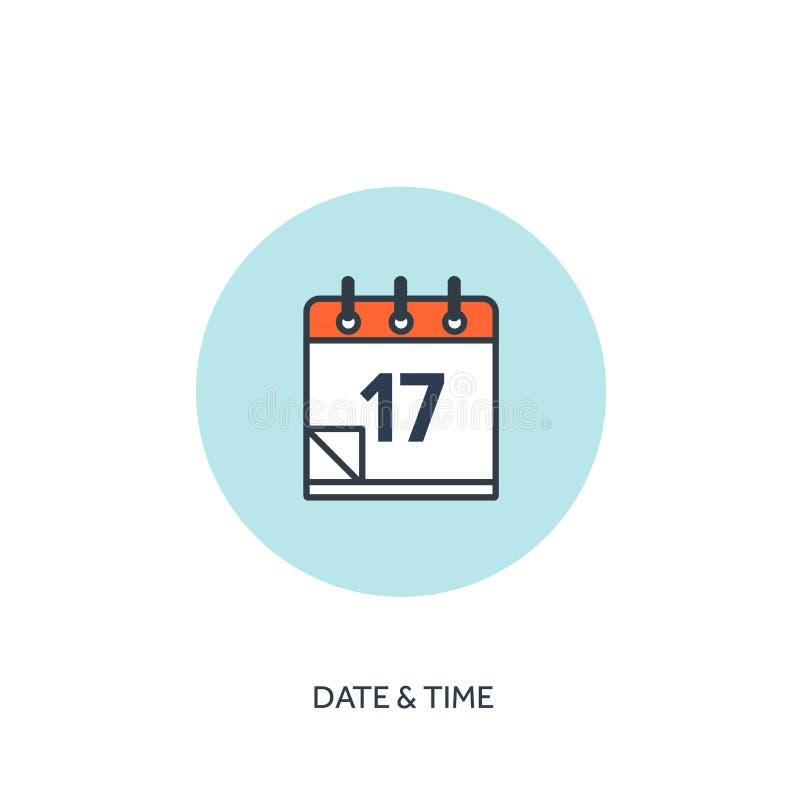 Auch im corel abgehobenen Betrag Kalender zeichnete Ikone Datum/Uhrzeit Urlaubsplanung lizenzfreie abbildung