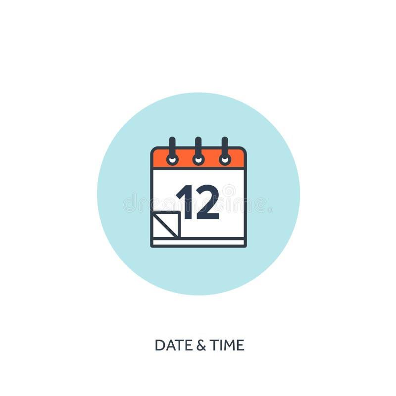 Auch im corel abgehobenen Betrag Kalender zeichnete Ikone Datum/Uhrzeit Urlaubsplanung vektor abbildung