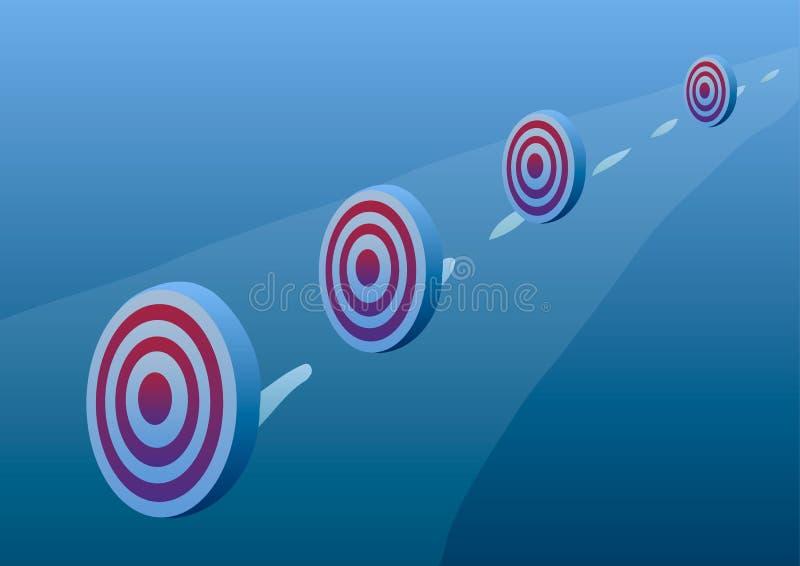 Auch im corel abgehobenen Betrag Leistungen von Zielen vektor abbildung