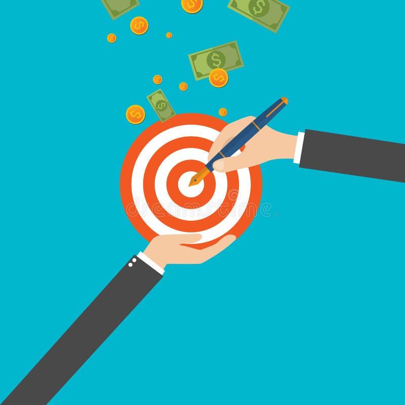Auch im corel abgehobenen Betrag Management und Leistungen Unternehmensplanung und Strategie stock abbildung