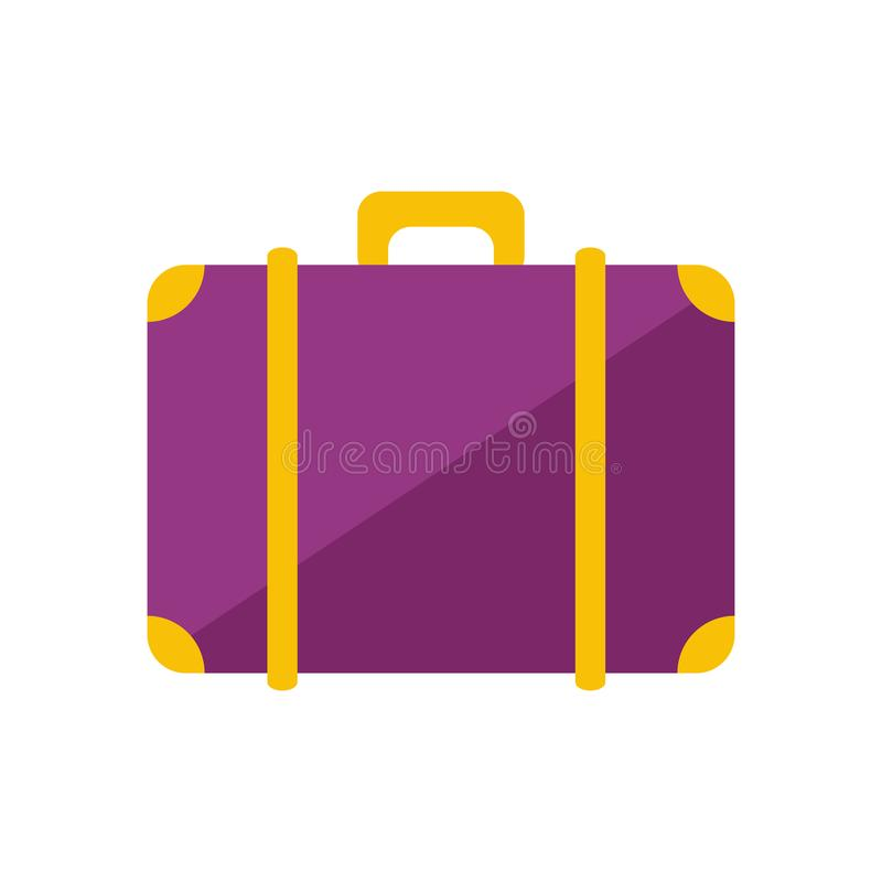 Auch im corel abgehobenen Betrag Reisende Tasche lizenzfreie abbildung