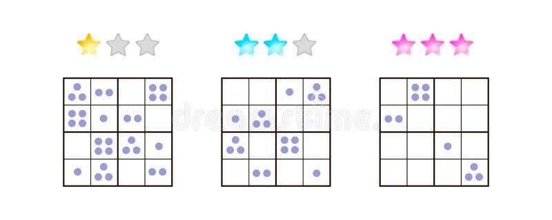 Auch im corel abgehobenen Betrag Sudoku für Kinder mit Bildern an unterschiedlichem lizenzfreie abbildung