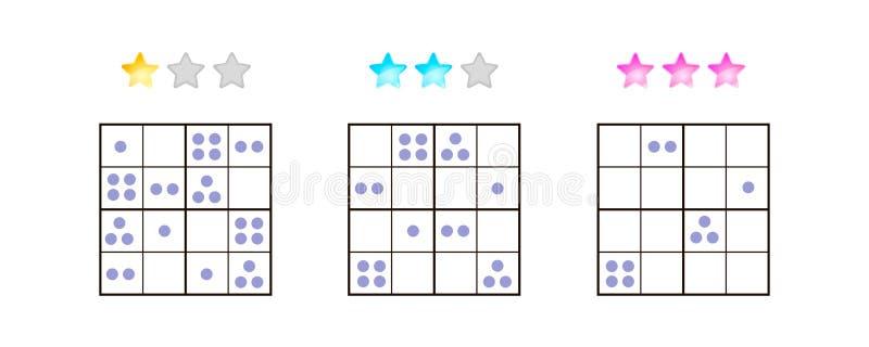 Auch im corel abgehobenen Betrag Sudoku für Kinder mit Bildern an unterschiedlichem vektor abbildung