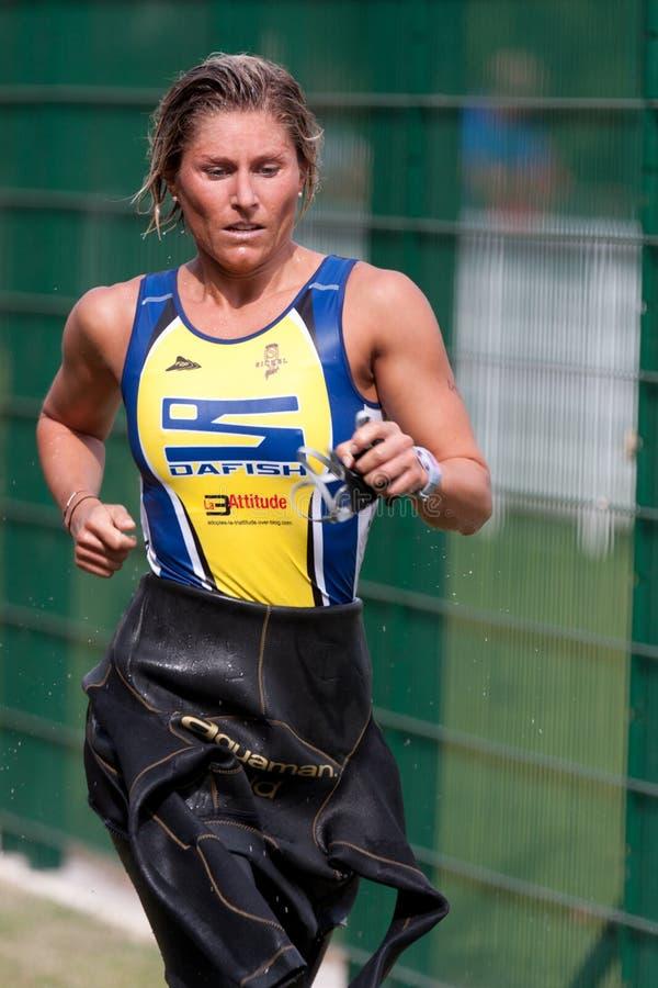 Auch triathlon, 2010 stock foto's