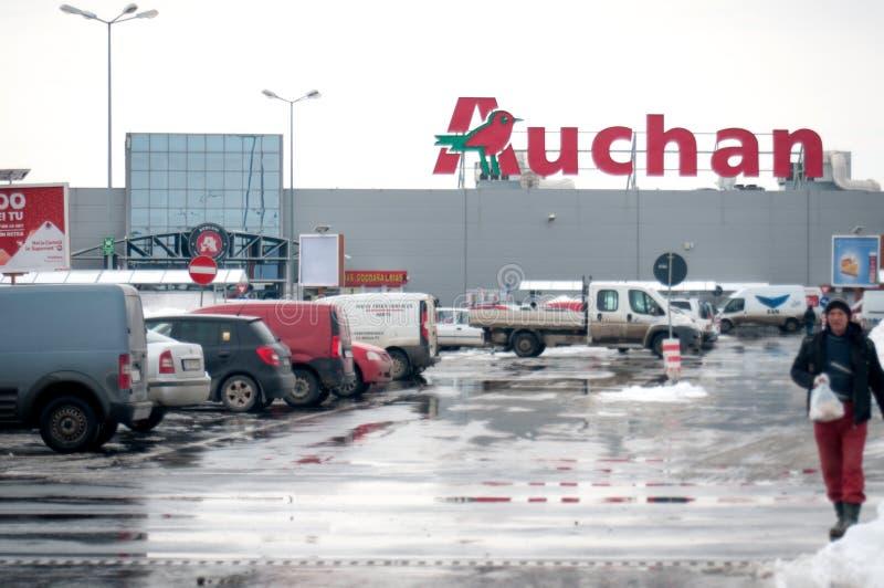 Auchanopslag stock foto