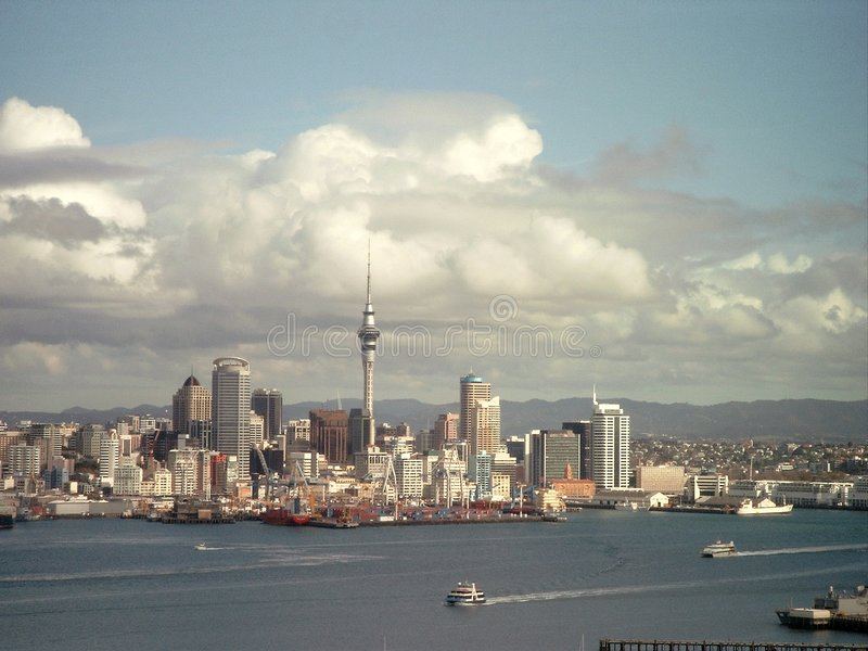 Download Auckland stock photo. Image of economy, auckland, clouds - 3570330
